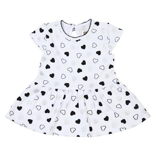 שמלה לבבות לבן