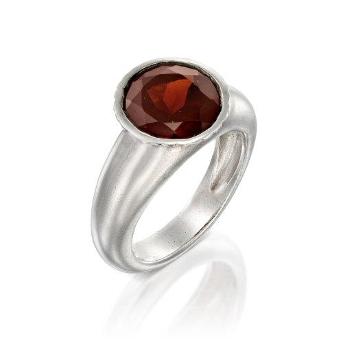 טבעת כסף 925 משובצת גרנט נועה טריפ noa tripp