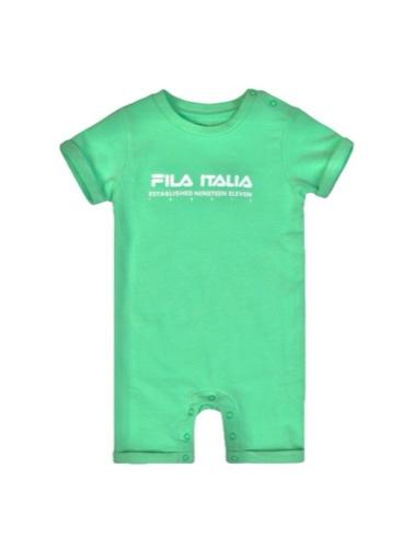 אוברול פרנץ טרי שרוול קצר תינוקות בנים מידות 6-18 חודשים