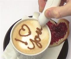 עט קישוט קפה ומנות אוכל