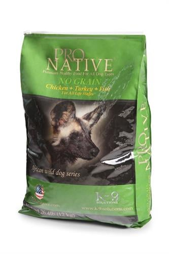"""פרו נייטיב עוף ואורז 12 ק""""ג מזון יבש לכלבים ללא דגנים"""