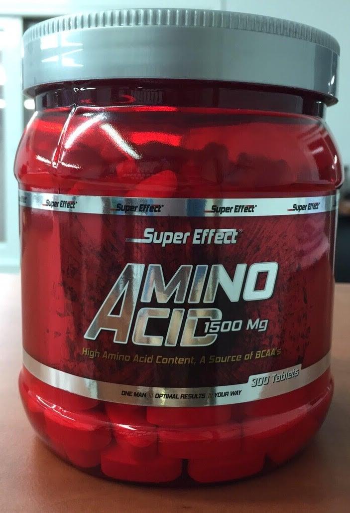 סופר אפקט אמינו 300 טבליות כשר | Amino Acid 1500mg by Super Effect