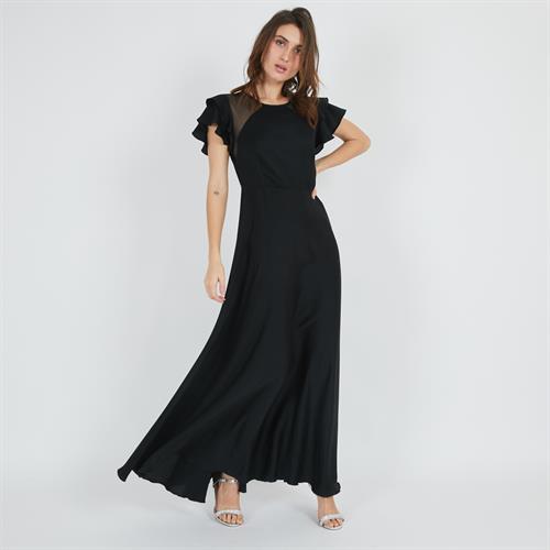 שמלת סלאסט שחורה