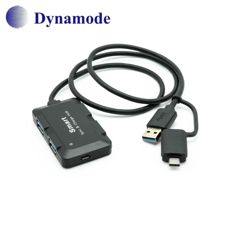 מפצל USB לחיבור 4 יציאות USB3.0 עם חיבור Type C