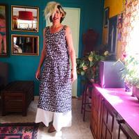 שמלת כותנה הודית בשחור לבן מידה L