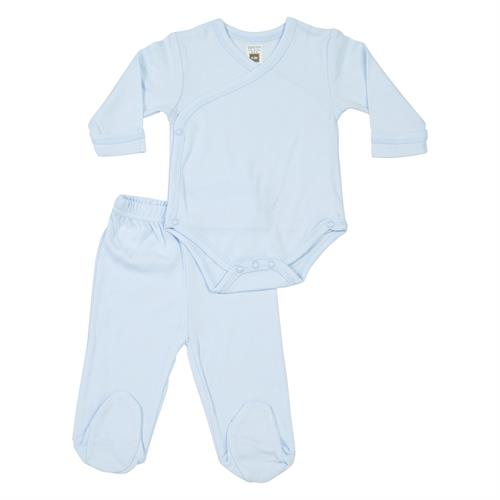 חליפת בגד גוף חזיה ומכנסיים תכלת