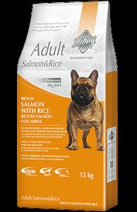 אוכל לכלב Dibaq Adult Salmon & Rice 15 קג