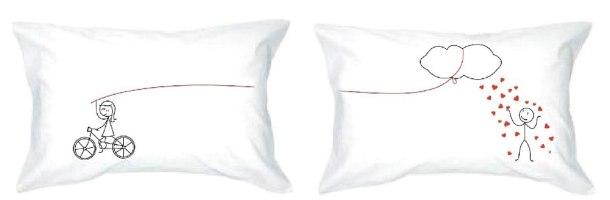 מארז זוג כריות שינה מפנקות  וזוג ציפיות גרפיטי נשלפות לכביסה