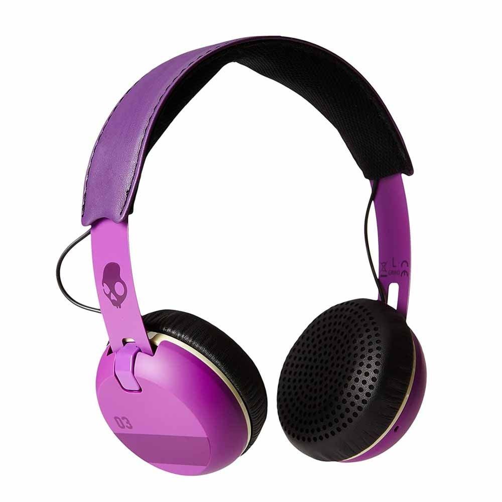 אוזניות קשת עם מיקרופון Skullcandy GRIND Purple/Black