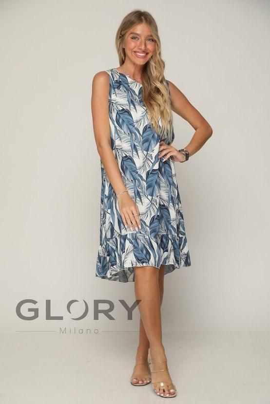שמלת ויסקוזה עלים GLORY