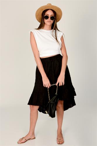 חצאית ברוק שחורה