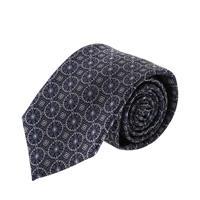 עניבה קלאסית עיגולים גדולים כחול לבן