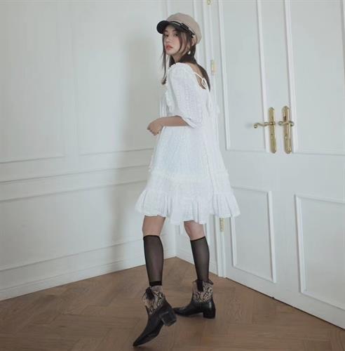 שמלת מישל תחרה פריזאית