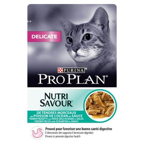 פרו פלאן חתול פאוצ' דגי אוקינוס דייליקט 85 גרם -PRO PLAN DELICATE