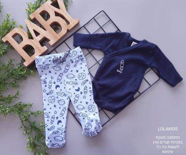 חליפה בגד גוף מעטפת ומכנס רגליות דגם 5