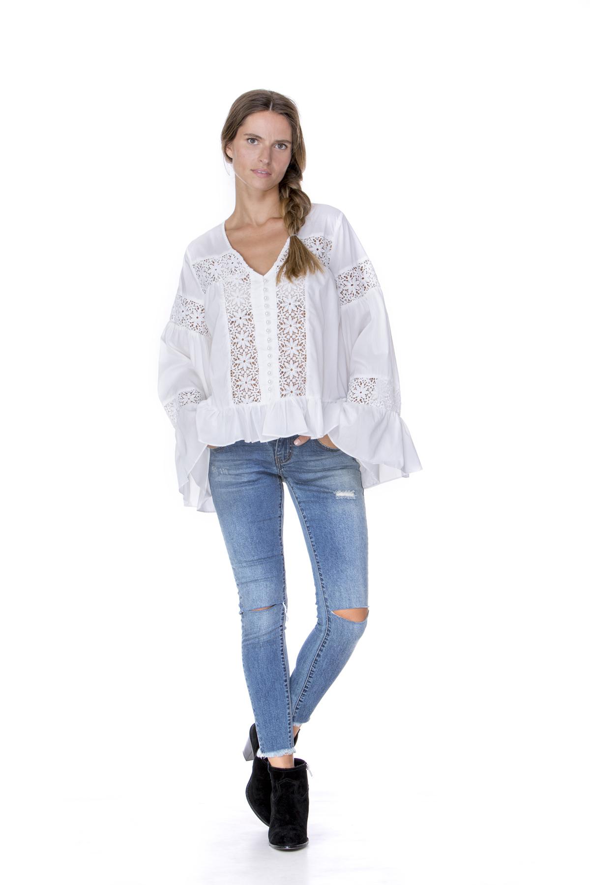 חולצת רויאל לבנה