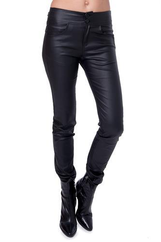 מכנס דמוי עור שחור