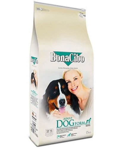 """BonaCibo סניור/לייט מזון לכלבים מבוגרים 15 ק""""ג"""