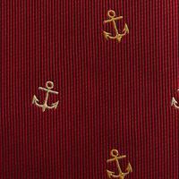 """עניבה """"עוגן"""" אדום"""