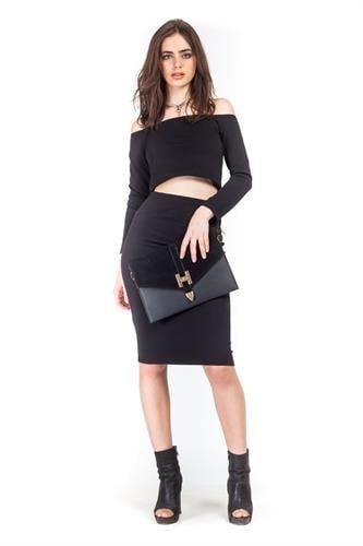 חצאית אודרי שחורה