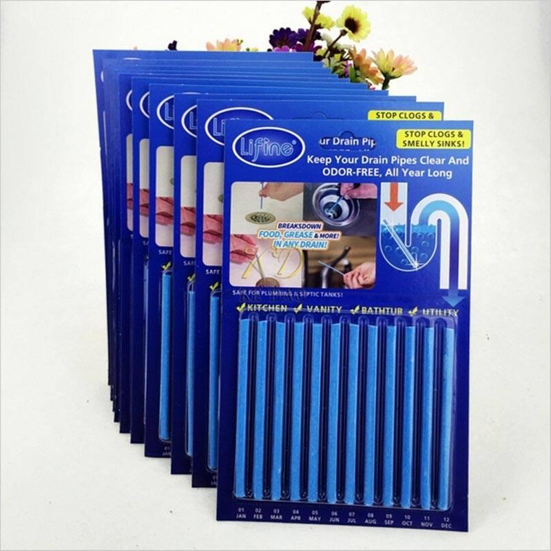 מקלות למניעת ושחרור סתימות בצנרת – מארז 12 יחידות