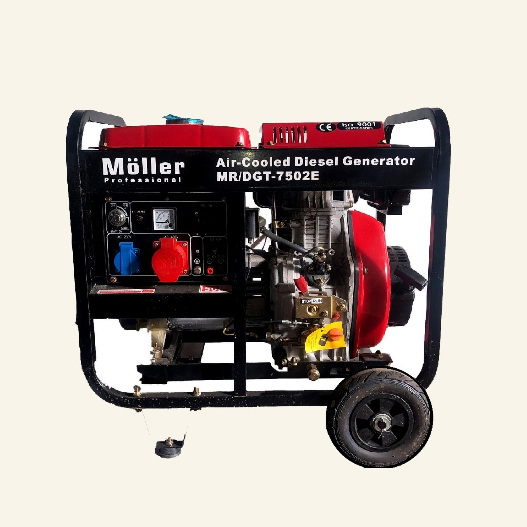 גנרטור פתוח דיזל (סולר) 7500W תלת פאזי  מבית MOLLER GERMANY