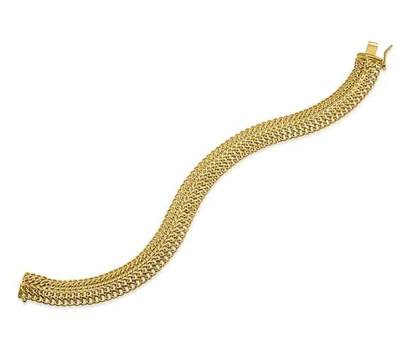 צמיד זהב חוליות לאישה|צמיד מיוחד