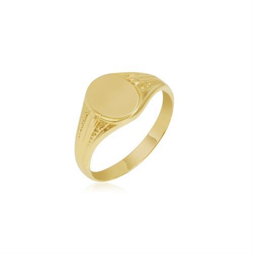 טבעת חותם אובלי בסגנון וינטג'
