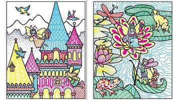 צביעת קסם - ארמונות פיות