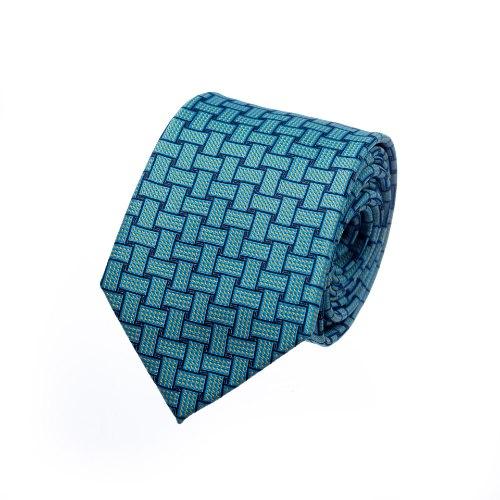 עניבה שתי וערב תכלת כחול