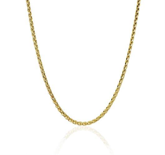 """שרשרת זהב חוליות לאישה 40 ס""""מ"""