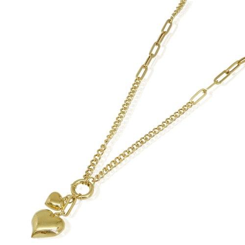 שרשרת זהב לאישה עם תליוני לב