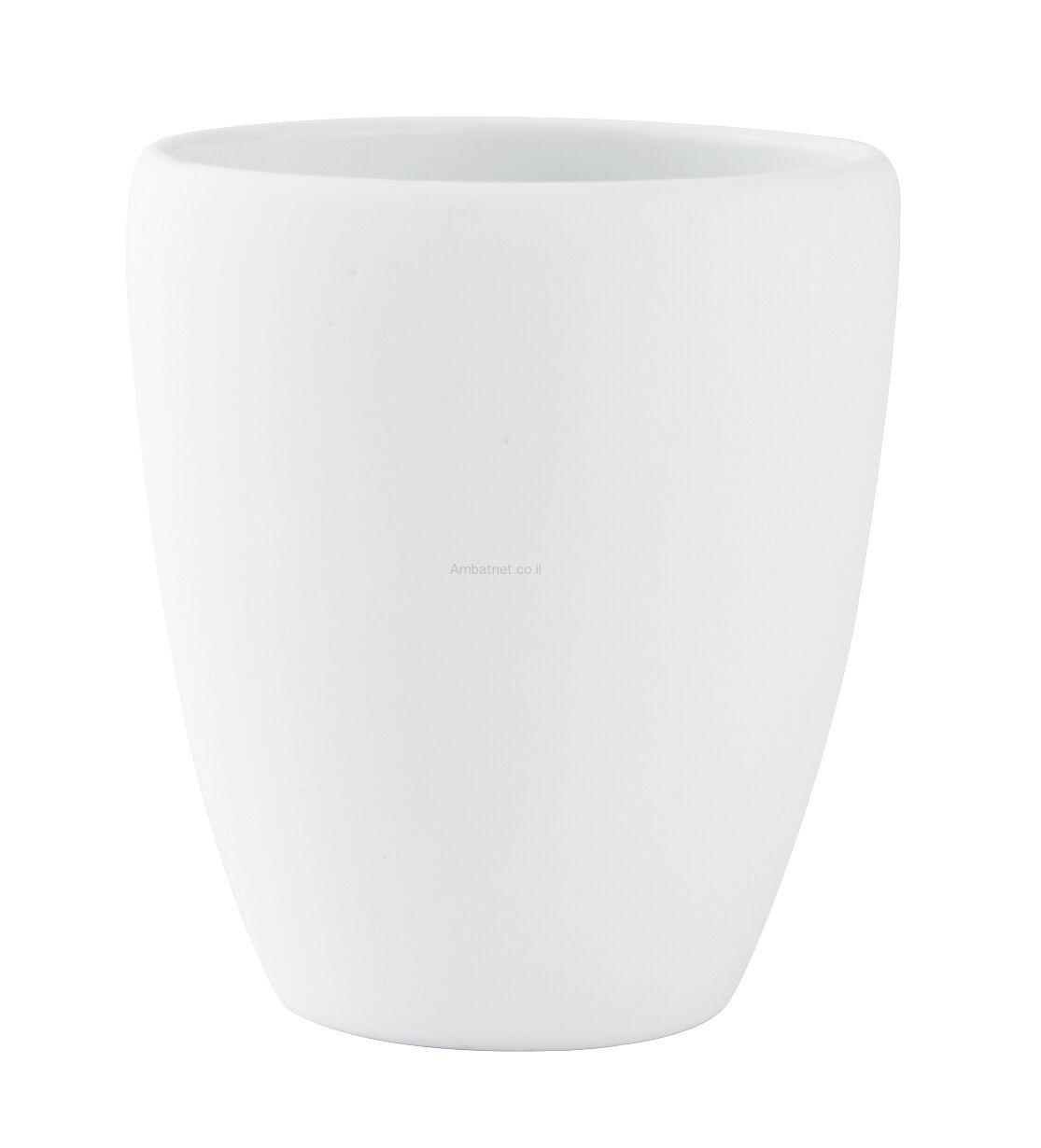 כוס למברשת שיניים - לבן