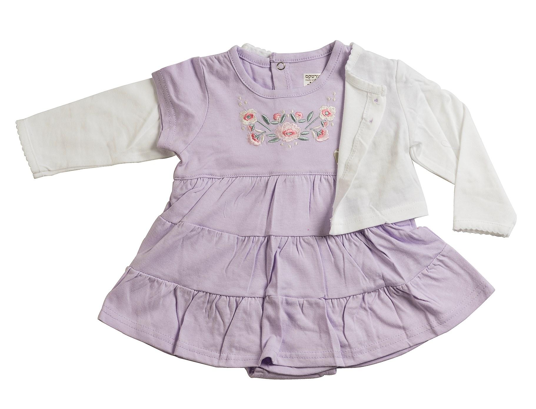 שמלת אוברול ועליונית 4610