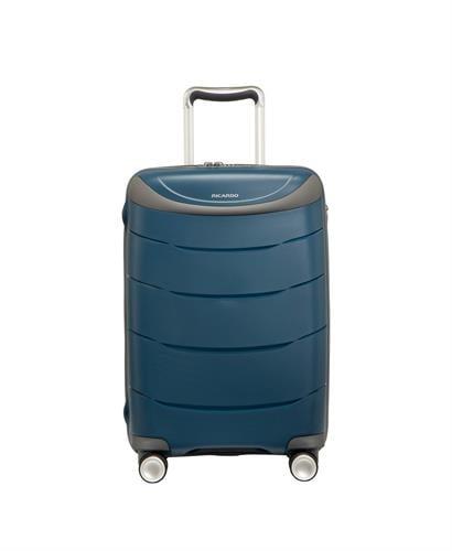 """מזוודה עליה למטוס קשיחה מעולה פוליפרופילן """"28 RICARDO BEVERLY HILLS כחול"""