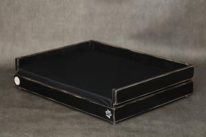 מיטה לכלב- דינגו XL שחור ווש