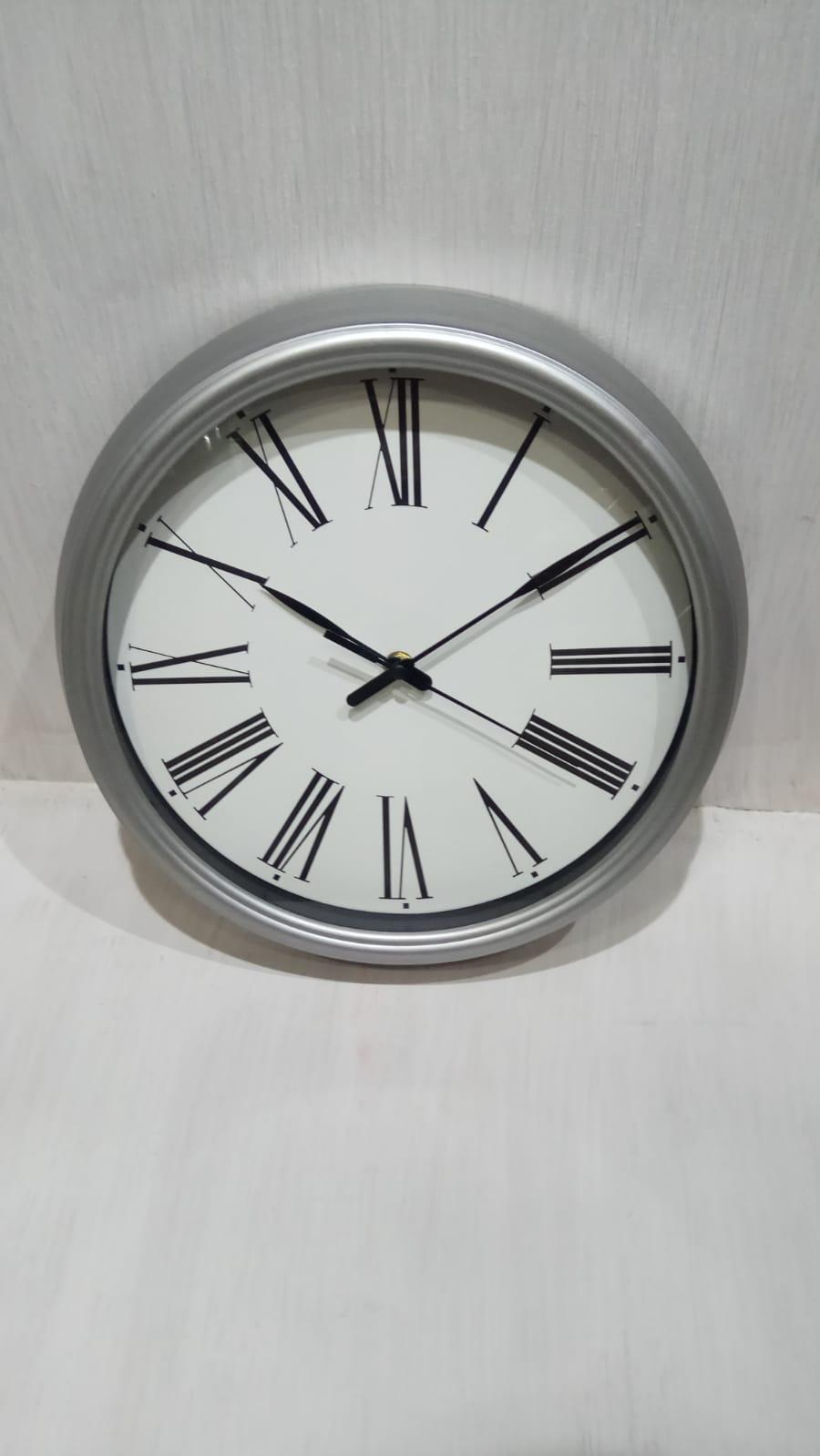 שעון קיר כסוף MC1661