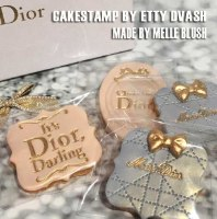 Dior Darling Logo Stamp - Dior Brand Stamp To Decorate Birthday Cake