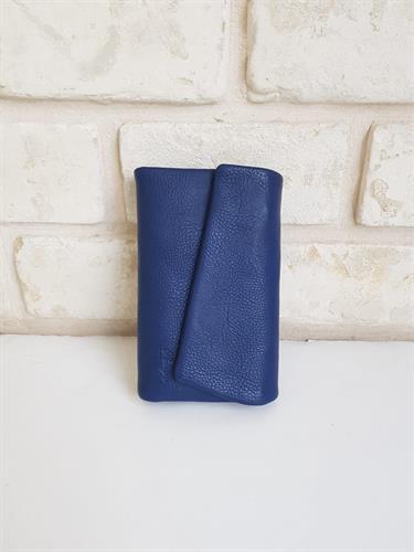 ארנק דמוי עור כחול בינוני 4028