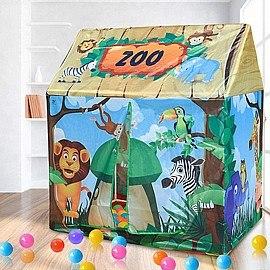 אוהל בית חיות ג'ונגל כולל חלון