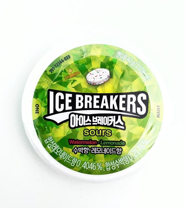 ice breakers סוכריות חמוצות בטעם אבטיח ולימון