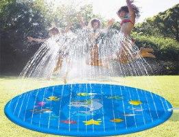 משטח מזרקת מים ניידת לילדים