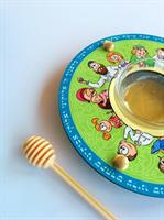 כלי לדבש ותפוחים איור משפחתי Dvash_15