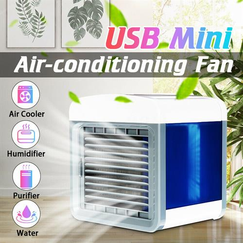 המזגן האישי - USB Mini Air Conditioner Portable Air Cooler Table Room Small Aircondition Cool