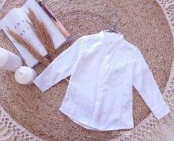 חולצה מכופתרת צווארון סיני דגם 072263