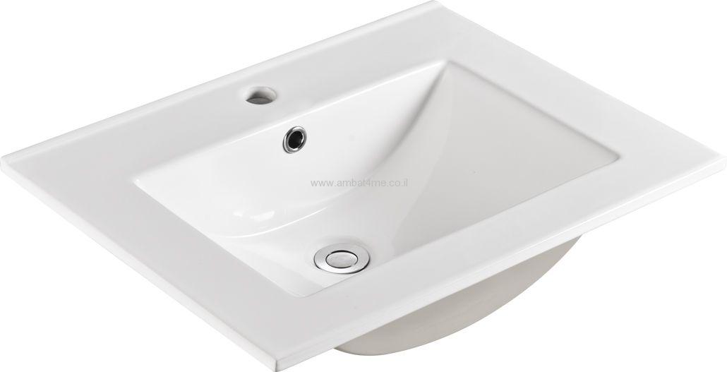 כיור חרס לאמבטיה 47-60 של חברת AMBAT .