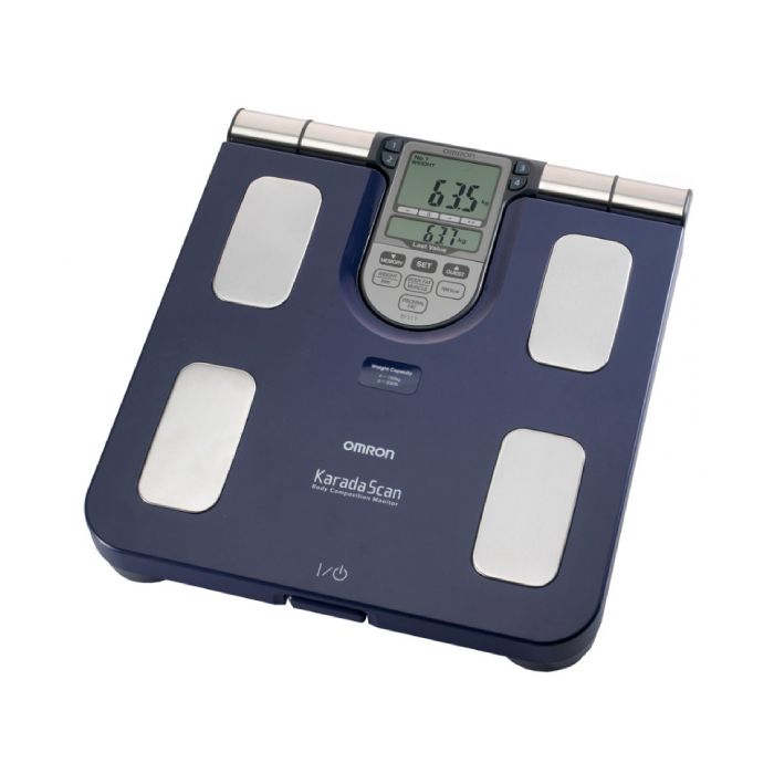 משקל אדם עם מד הרכב גוף Omron BF511