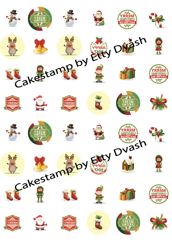 Christmas elements 48 pic Transfer sheet