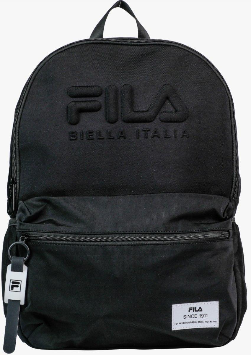 תיק בית ספר שחור כיתוב מובלט FILA