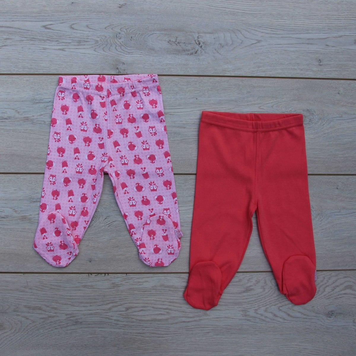 זוג מכנסיים רגליות ורוד